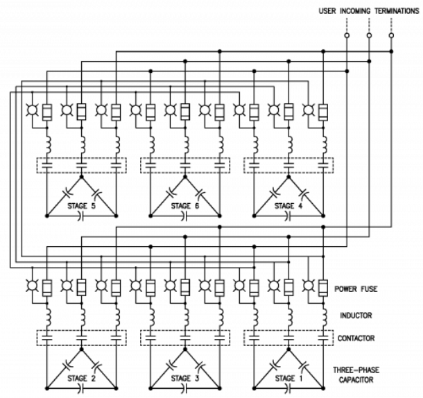 Single Line Diagram low voltage capacitor banks